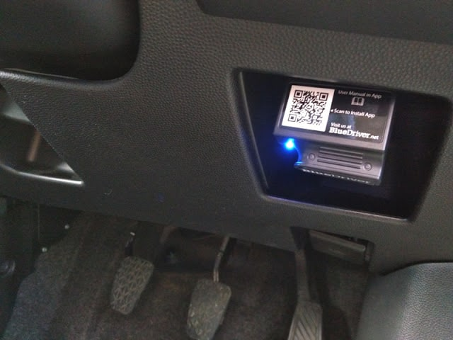 BlueDriver inserted in a car bluedriver review
